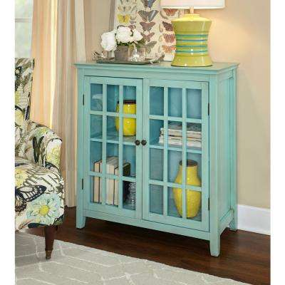 Largo Antique Turquoise Storage Cabinet