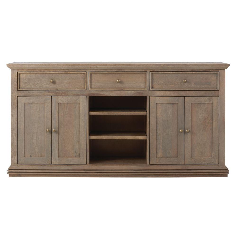 13e3ea6340 Home Decorators Collection Aldridge Antique Grey Buffet 9415000270 ...