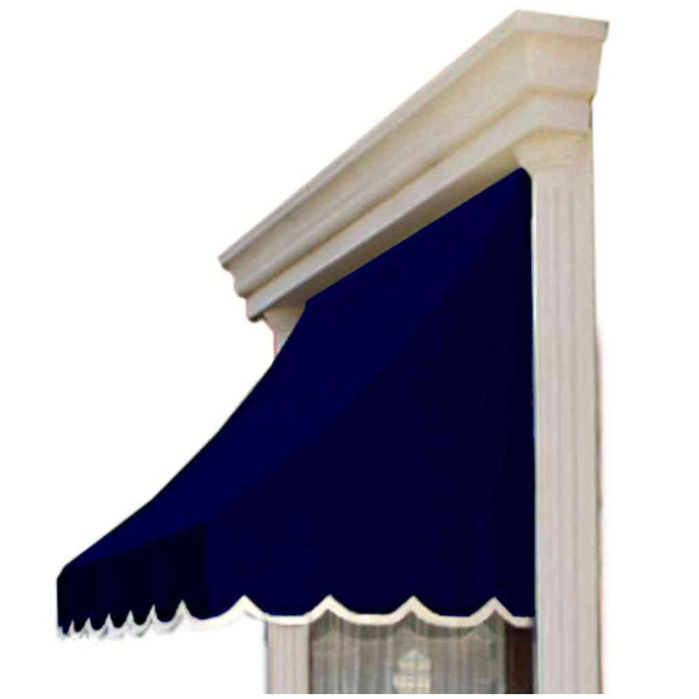 AWNTECH 4 ft. Nantucket Window/Entry Awning (44 in. H x 36 in. D) in Navy
