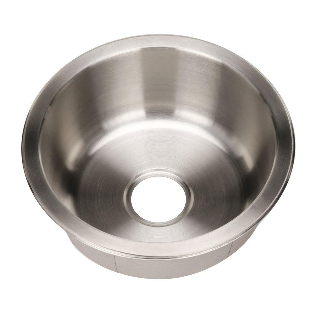 Houzer Club Series Undermount Stainless Steel 175 In Single Bowl