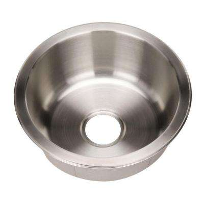 Club Series Undermount Stainless Steel 17.5 in. Single Round Bar/Prep Sink