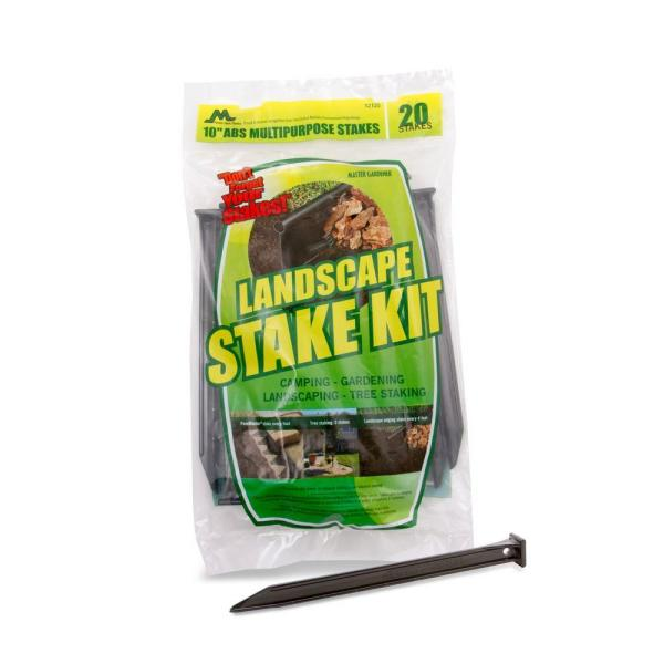10 in. A.B.S. Plastic Anchor Stake Kit for Landscape Edging (20-Pack)