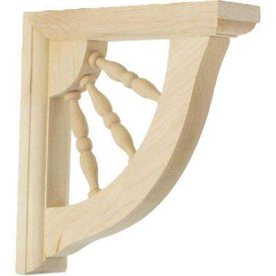 1-1/2 in. x 7 in. x 7 in. Rubberwood Andrea Wagon Wheel Bracket