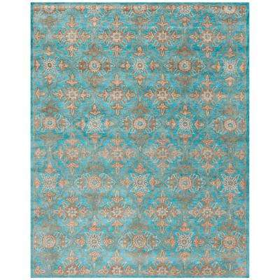 Teal 8 X 10 Area Rugs Rugs The Home Depot
