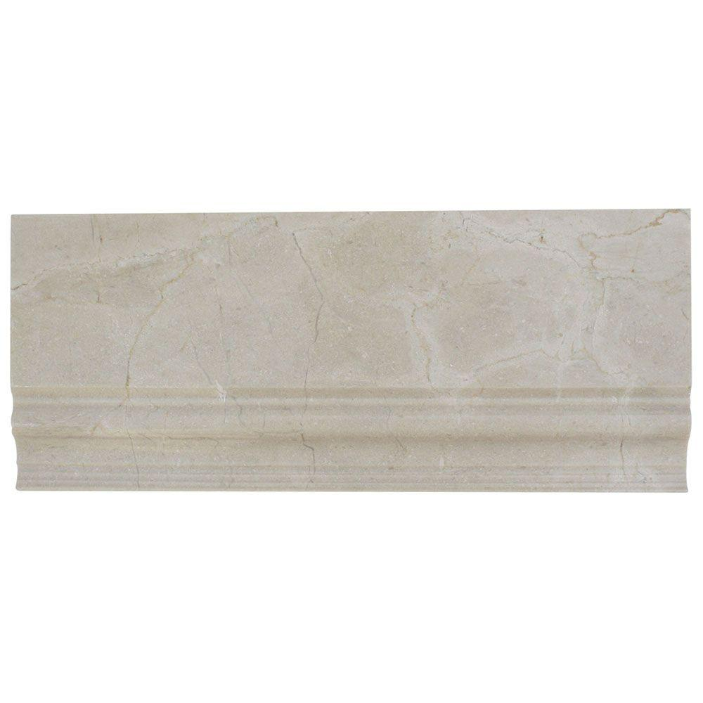 Splashback Tile Crema Marfil Base Molding 475 In X 12 In X 10 Mm