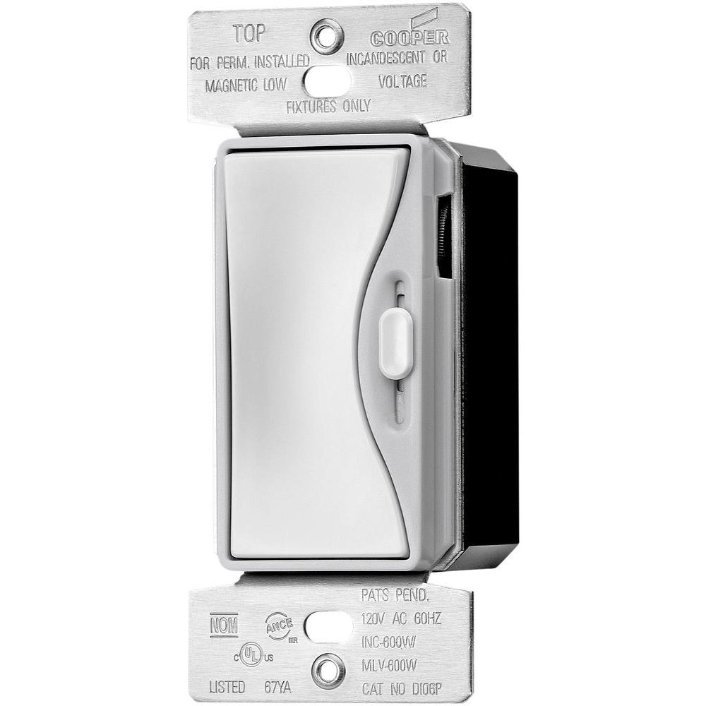 Dimmers dimmers switches outlets the home depot 300 watt 3 way dimmable ledcfl dimmer with preset in white satin sciox Choice Image