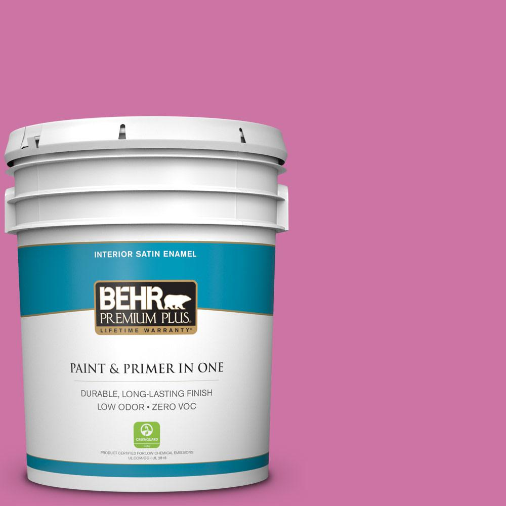 5-gal. #P120-4 Heart Breaker Satin Enamel Interior Paint
