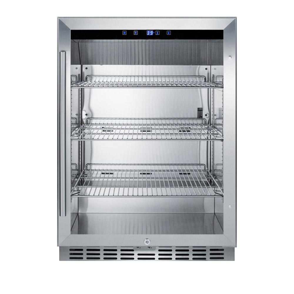 Summit Appliance 24 In 5 Cu Ft Built In Outdoor Refrigerator In Stainless Steel
