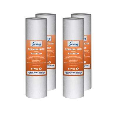 5 micron 10 in. x 2.5 in. Universal Sediment Filter Cartridges 15000 Gal. Multi-layer (4-Pack)