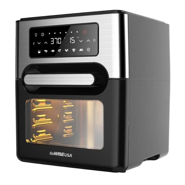 Gowise Usa 1700w 12 7 Quart Air Fryer Toaster Oven Select With