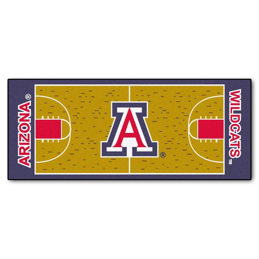 Fanmats University Of Arizona 3 Ft X 6 Ft Basketball Court Rug