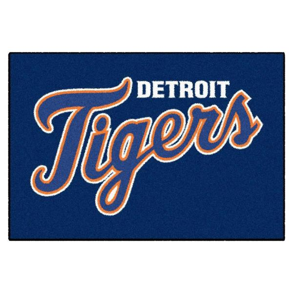 MLB Detroit Tigers 1 ft. 7 in. x 2 ft. 6in. Starter Mat Area Rug