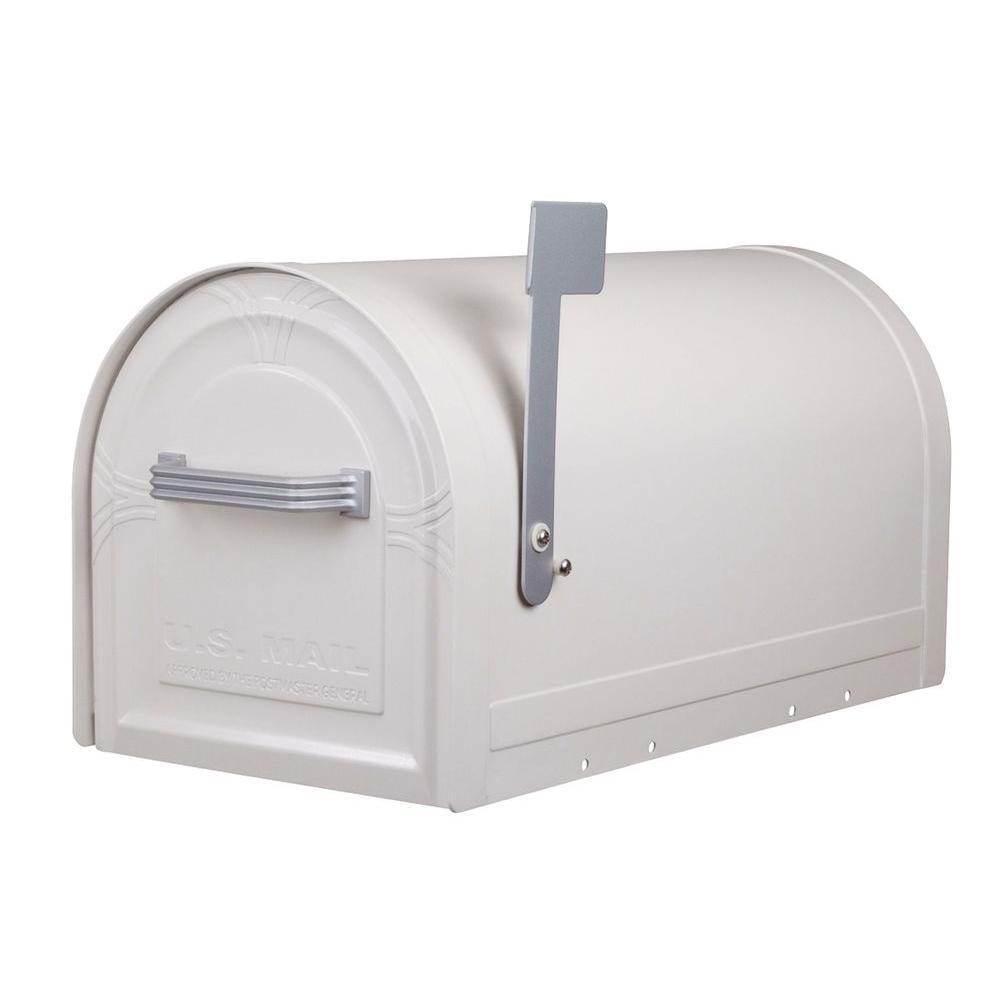 Wyngate Locking Post-Mount Mailbox in White