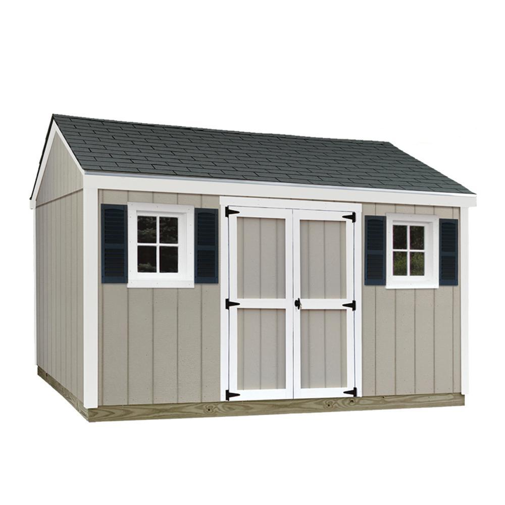 Sheds USA 10 ft. x 12 ft. Installed Smart Siding Classic-T1012C - The Home Depot