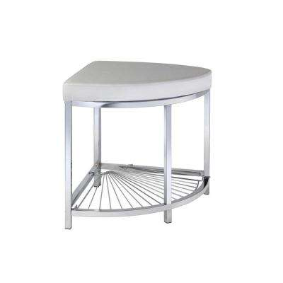 Urban Modern 14 in. x 15.75 in. Corner Stool in Chrome