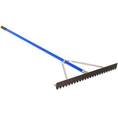 6 ft. Aluminum Handle 36 in. Blunt Tooth Asphalt Lute Rake