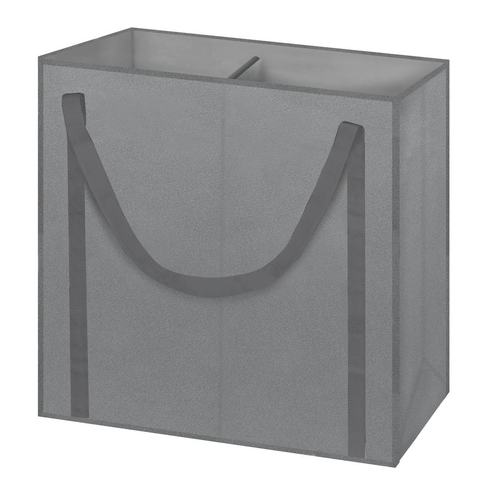 Arm Hammer Gray Non Woven 2 Section Toteable Hamper