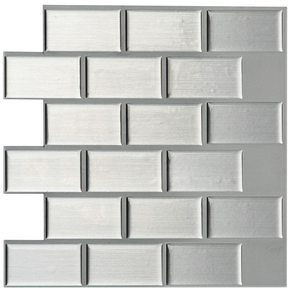Instant Mosaic 3 in. x 6 in. Peel and Stick Mosaic Decorative Wall ...