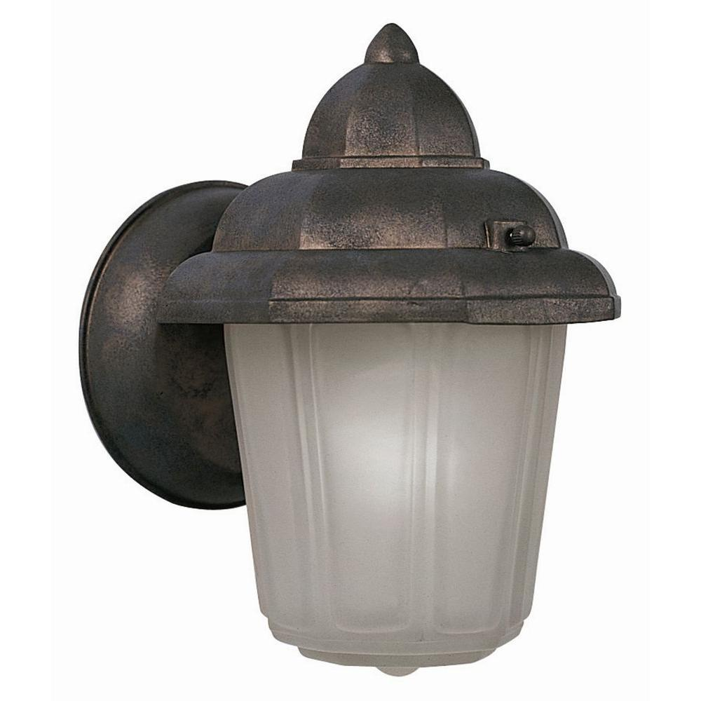 Maple Street Washed Copper Outdoor Wall Mount Downlight With Frosted Glass