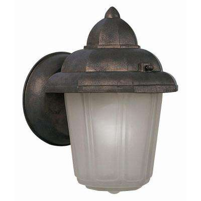 Maple Street Washed Copper Outdoor Wall-Mount Downlight with Frosted Glass