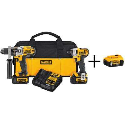 20-Volt MAX Lithium-Ion Cordless Hammer Drill/Impact Driver Combo Kit (2-Tool) with Bonus Battery Pack 5Ah