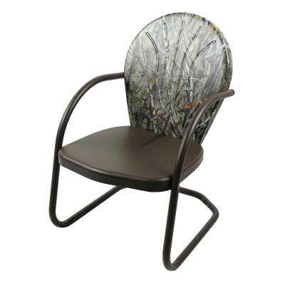 G2 1-Piece Metal Outdoor Lounge Chair in Camouflage