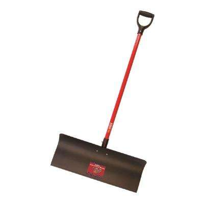 30 in. Steel Snow Pusher with Fiberglass D-Grip Handle