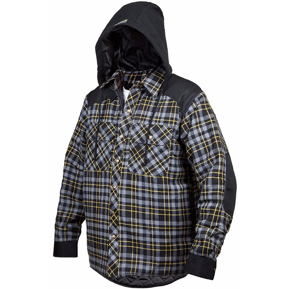 1506b264437 Terra Men s Extra-Large Grey Blast Quilted and Lined Lumberjack Flannel  Winter Jacket-10-1203-CGRNXL - The Home Depot