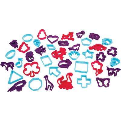 40-Piece Cookie Cutters with Various Shapes