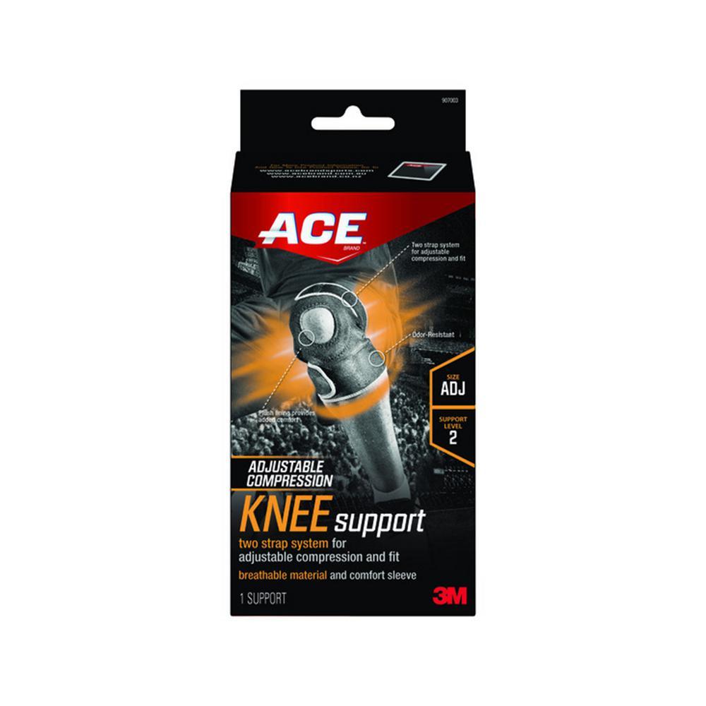 Adjustable Knee Support Brace in Black