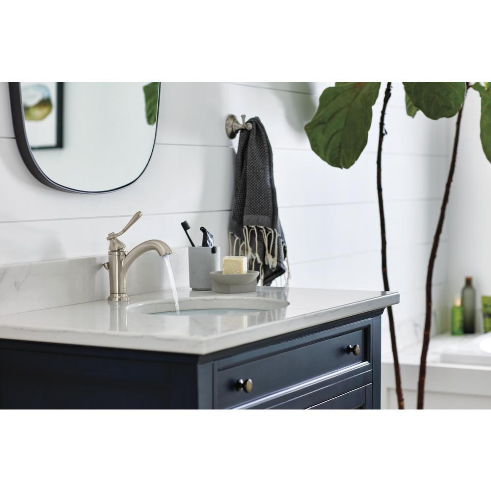 Elmhurst Single Hole Single-Handle Bathroom Faucet in Brushed Nickel