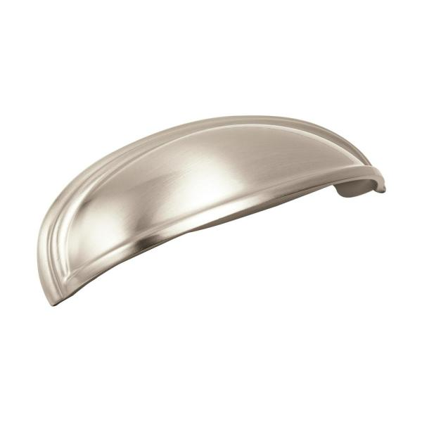 Ashby 4 in (102 mm) & 3 in (76 mm) Center-to-Center Satin Nickel Cabinet Drawer Cup Pull
