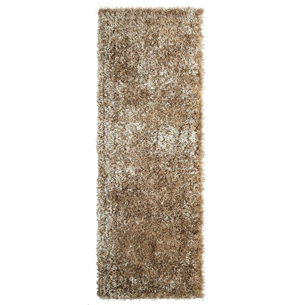 Home Decorators Collection City Sheen Gold Polyester 2 ft. 6 in. x 8 ft. Rug Runner