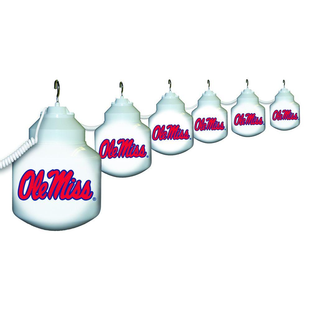 Polymer Products 6-Light Outdoor University of Mississippi String Light Set
