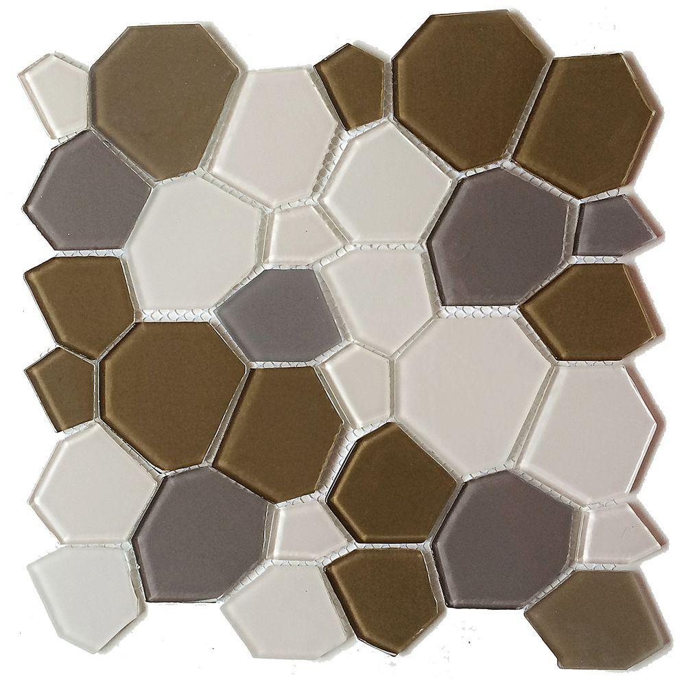 Designs Mesh Mounted Gl Wall Tile