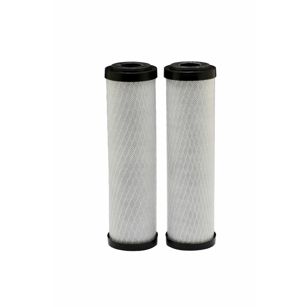 Universal Fit Carbon Block Whole House Water Filter (2-Pack) - Fits