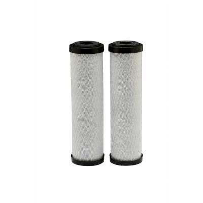 Universal Fit Carbon Block Whole House Water Filter (2-Pack) - Fits Most Major Brand Systems