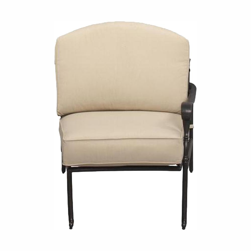Hampton Bay Edington Bronze Right Arm Patio Sectional Chair With Cushion Insert Slipcovers Sold Separately