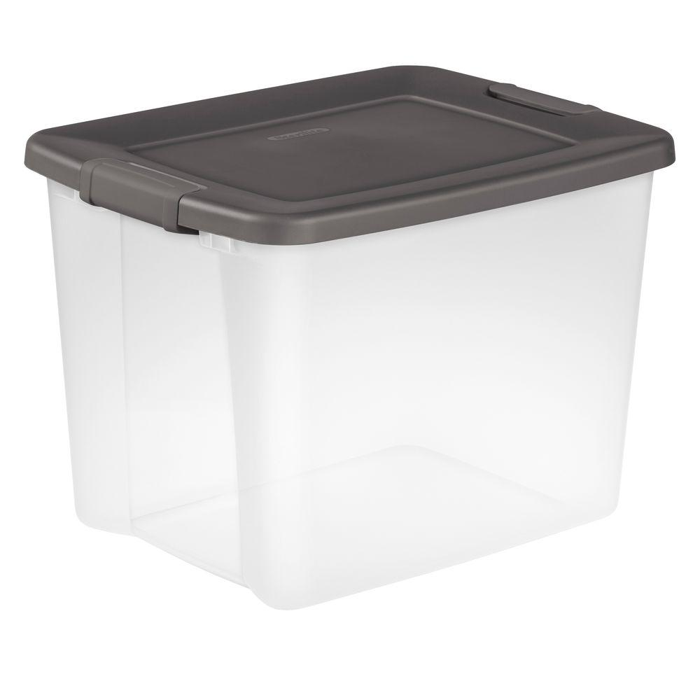 Sterilite 50 Qt  Storage Tote in Flat Gray
