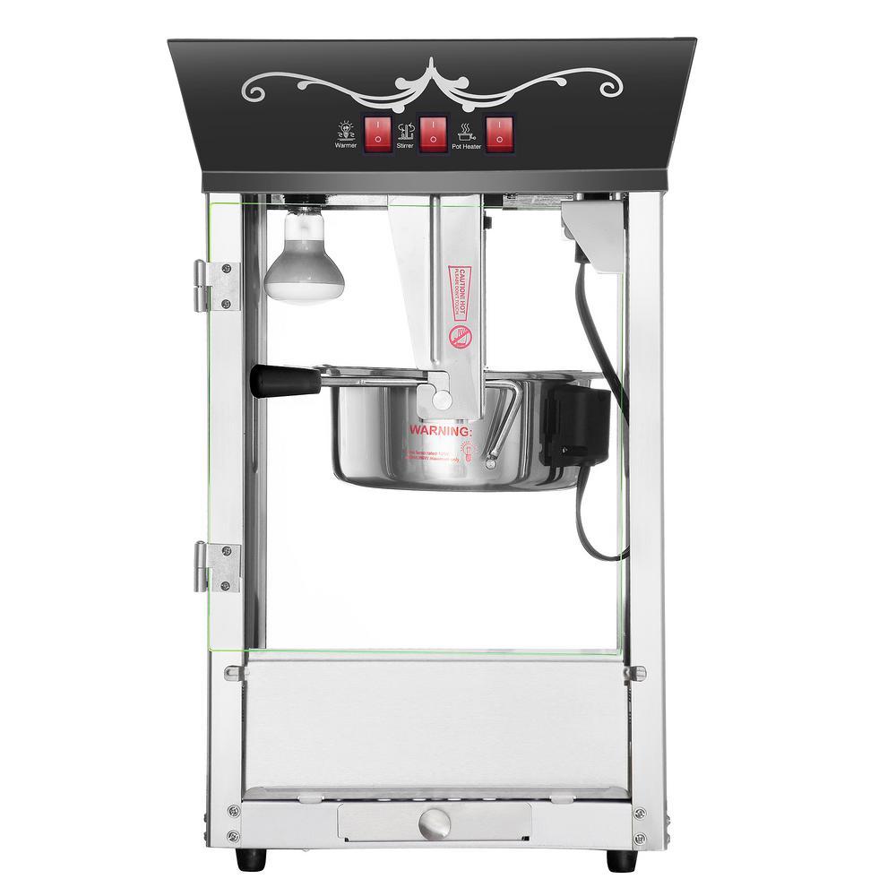 Great Northern Matinee Movie 8 oz. Antique Black Countertop Popcorn Machine