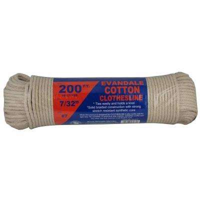 7/32 in. x 200 ft. Evandale Cotton Clothesline Hank