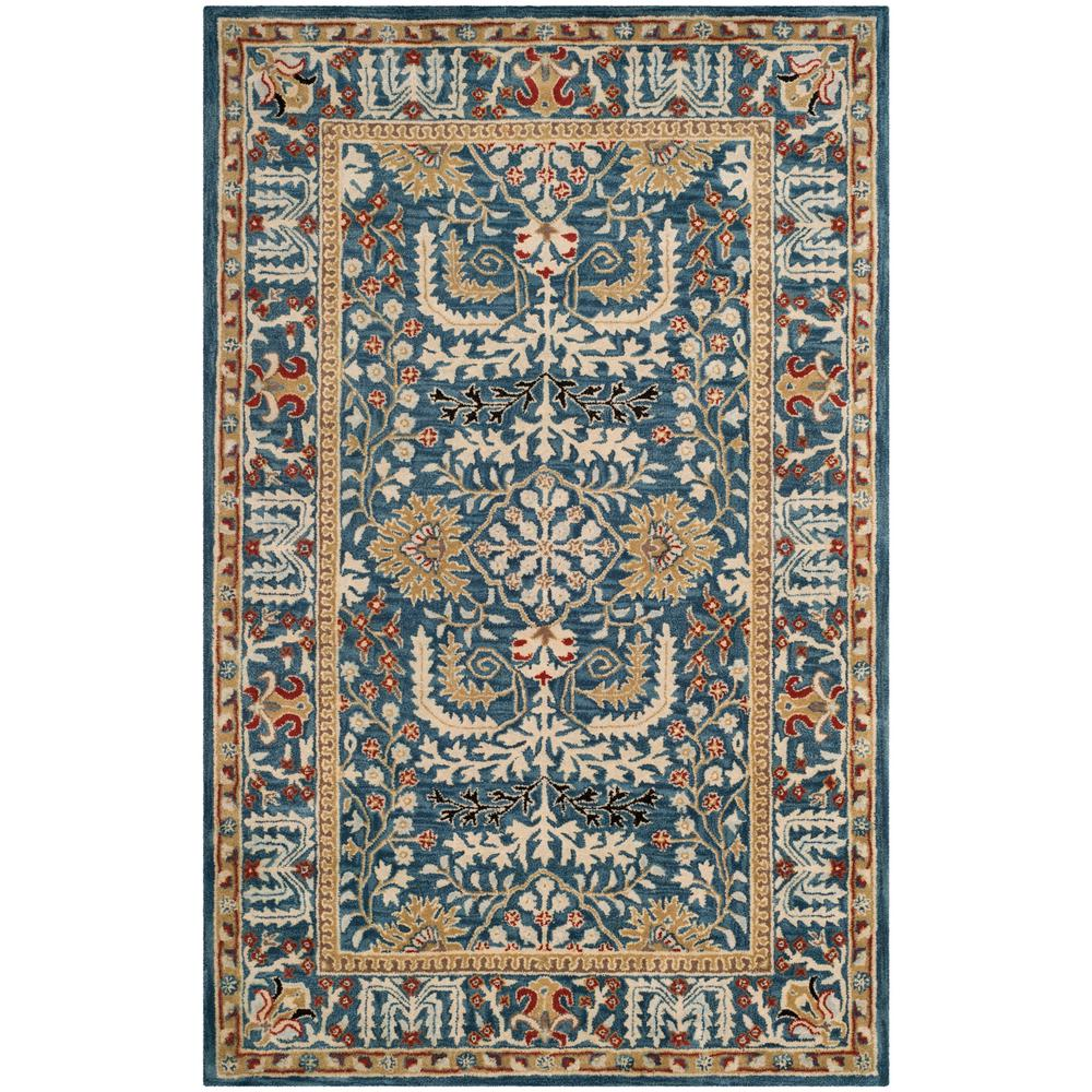Antiquity Dark Blue/Multi 5 ft. x 8 ft. Area Rug