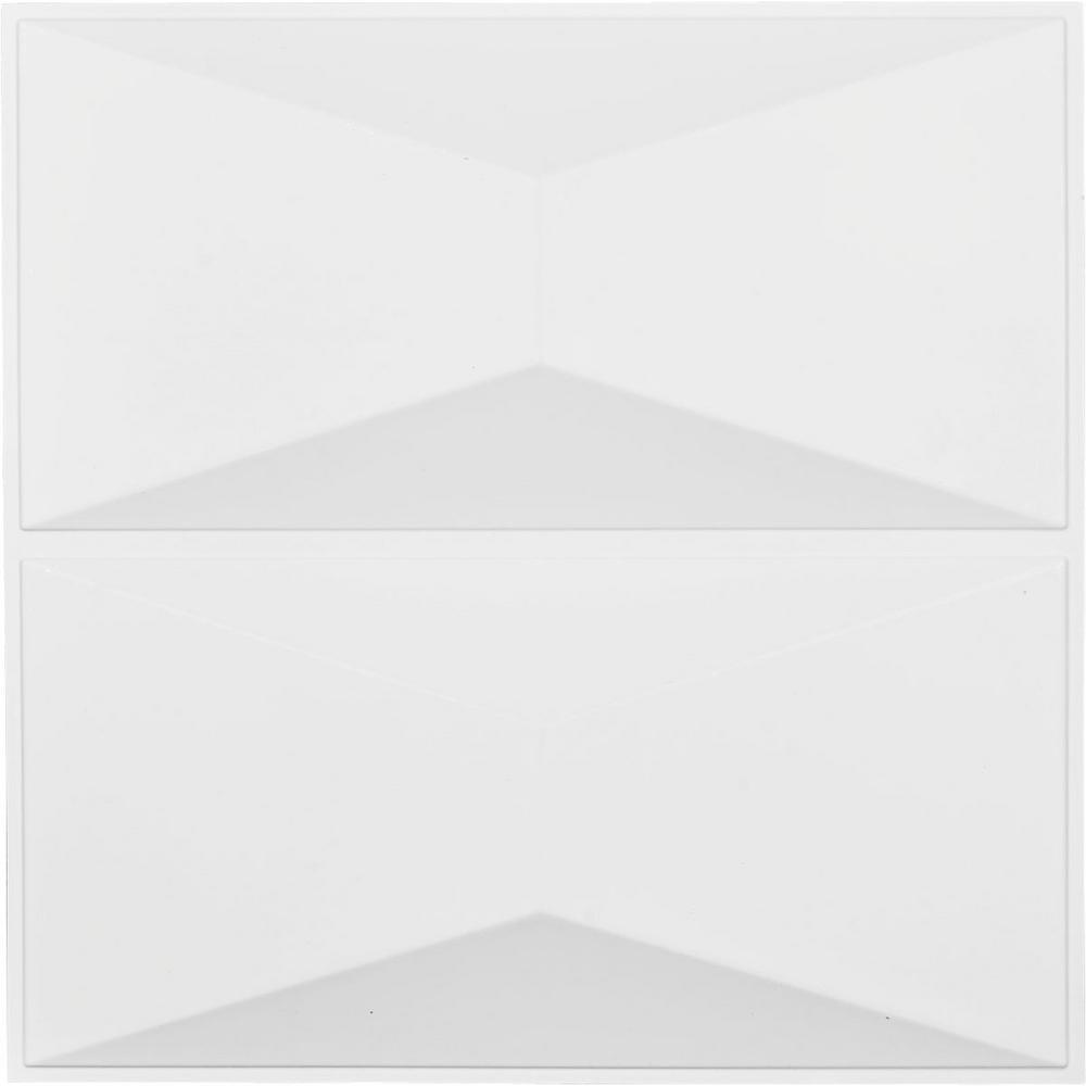 1 in. x 19-5/8 in. x 19-5/8 in. White PVC Aberdeen