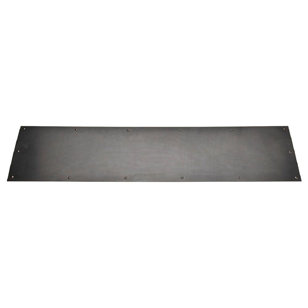 8 x 34 in. Stainless Steel Kickplate in Oil-Rubbed Bronze