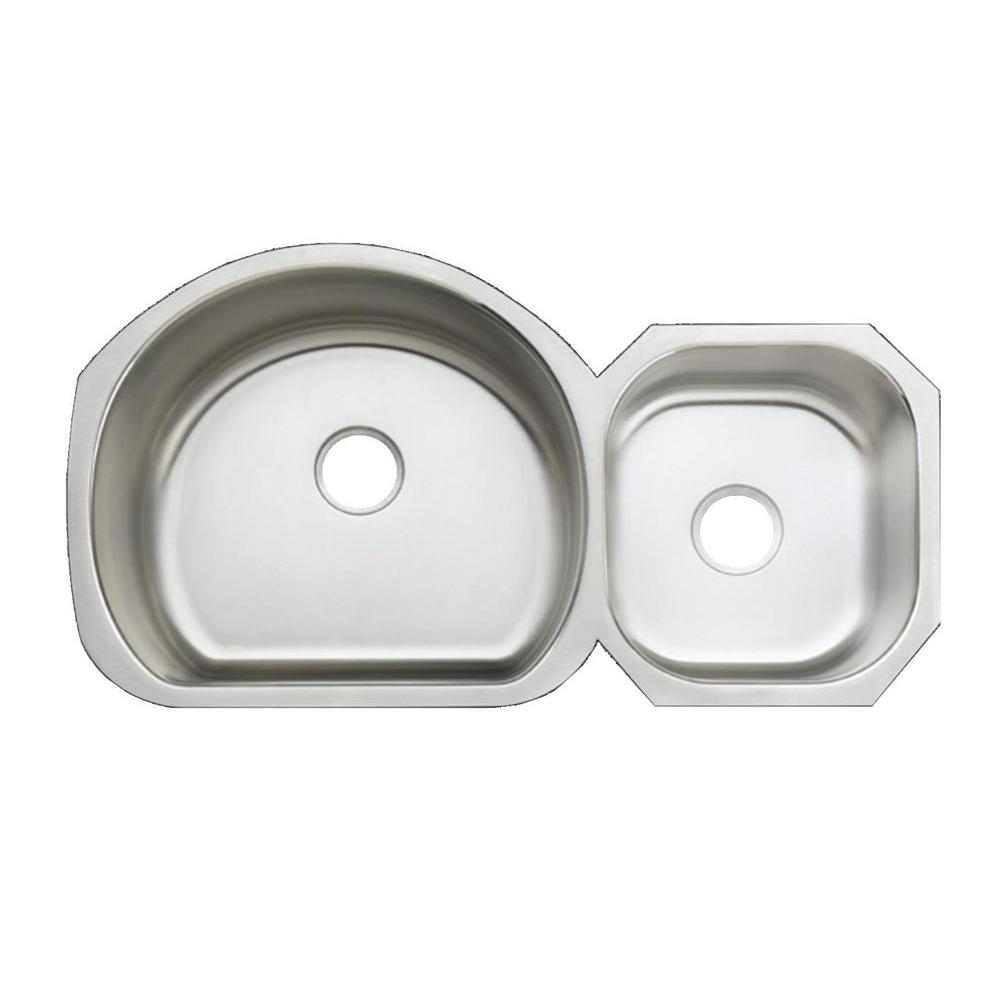 KOHLER Undertone Undercounter Stainless Steel 39-1/8 in. x 21-1/4 in.x9.5 in Double Bowl Kitchen Sink-DISCONTINUED