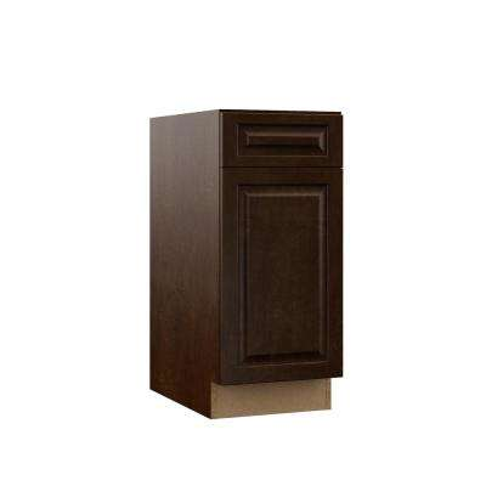 Gretna Assembled 15x34.5x23.75 in. Base Kitchen Cabinet in Espresso