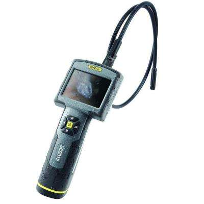 Rugged Video Inspection Camera System 12 mm Probe, 3.5 in. Screen with Case, Drop Proof