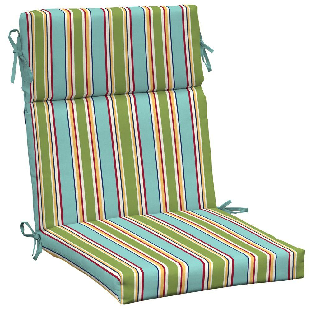 Arden Beach Stripe High Back Outdoor Chair Cushion-DISCONTINUED