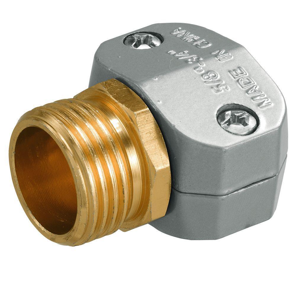 Orbit 5 8 In 3 4 In Zinc Male Hose Mender 56687 The Home Depot