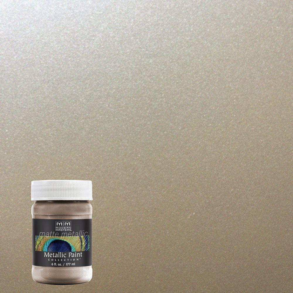 6 oz. Warm Silver Water-Based Matte Metallic Interior Paint